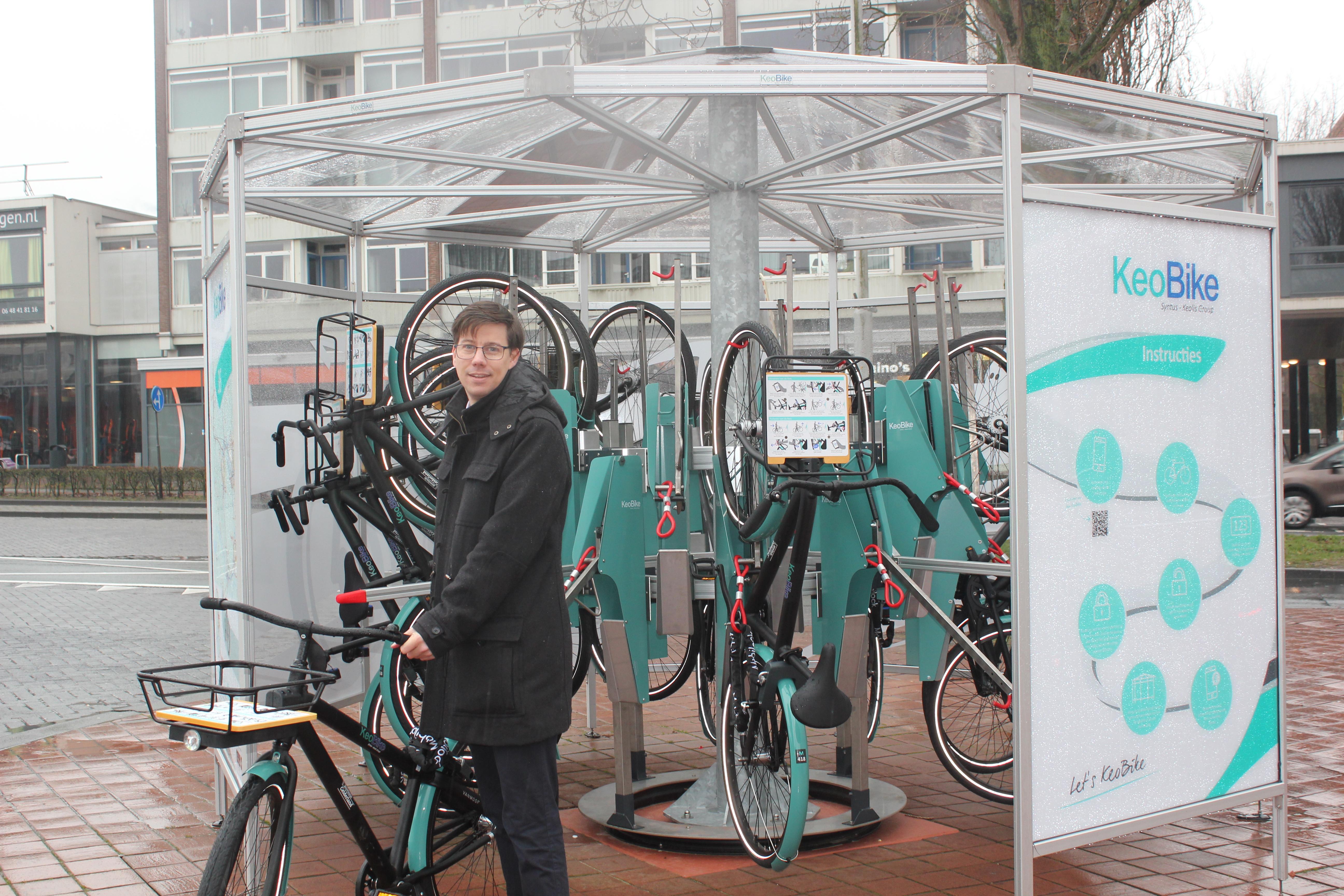 Keolis Nederland introduceert innovatief deelfietsconcept in Wageningen